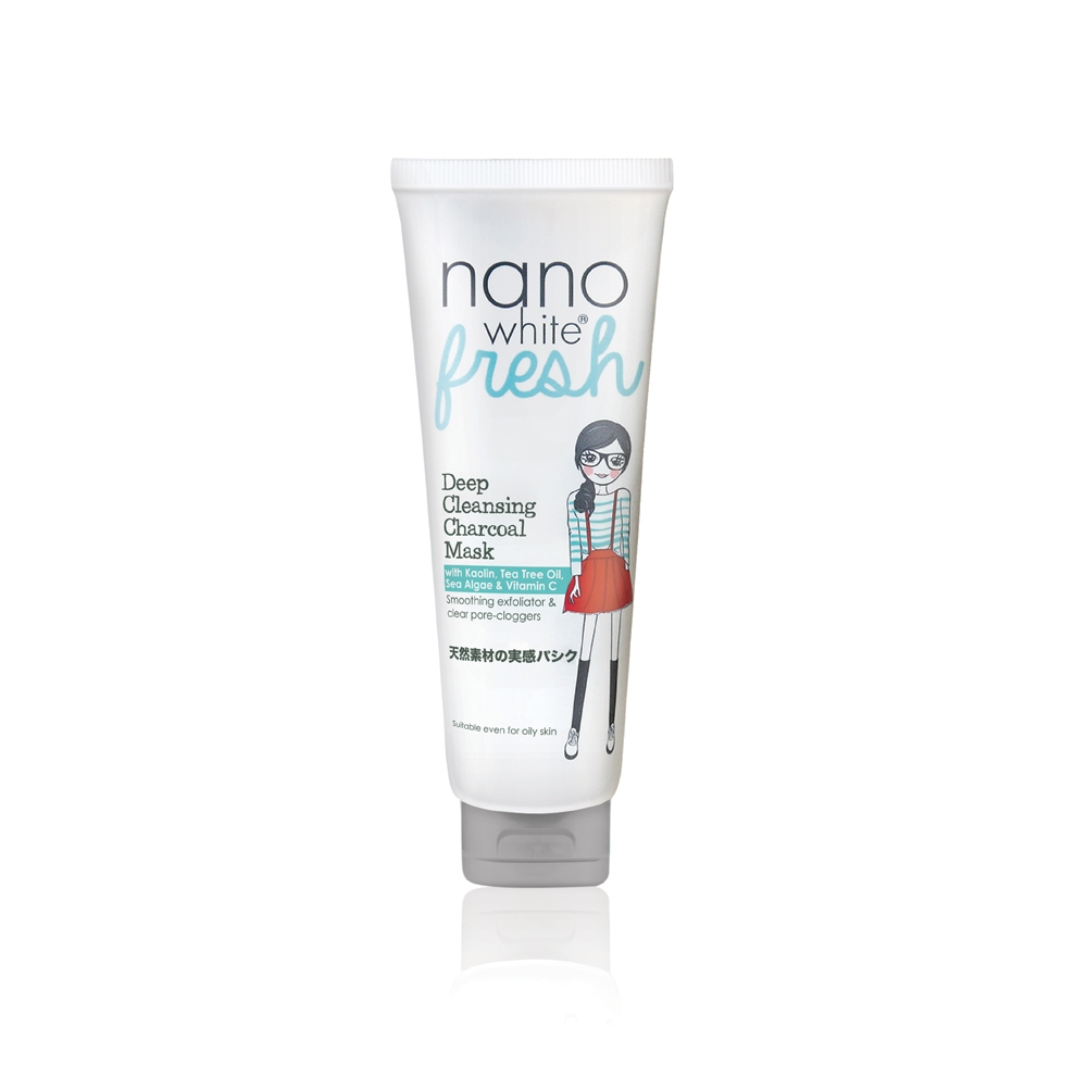Nanowhite Fresh Deep Cleansing Charcoal Mask